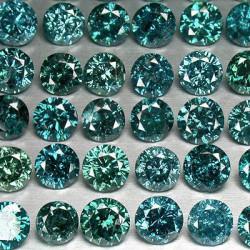 Διαμάντια Bluish Green