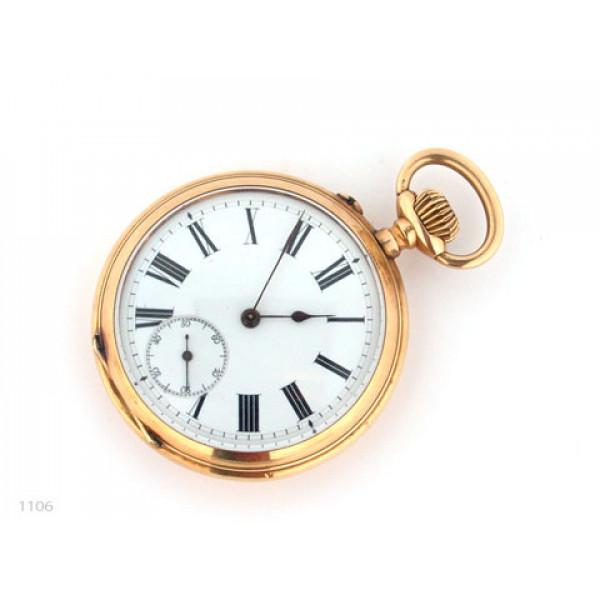 K14 Χρυσό Ρολόι Τσέπης με Jewels στον μηχανισμό του