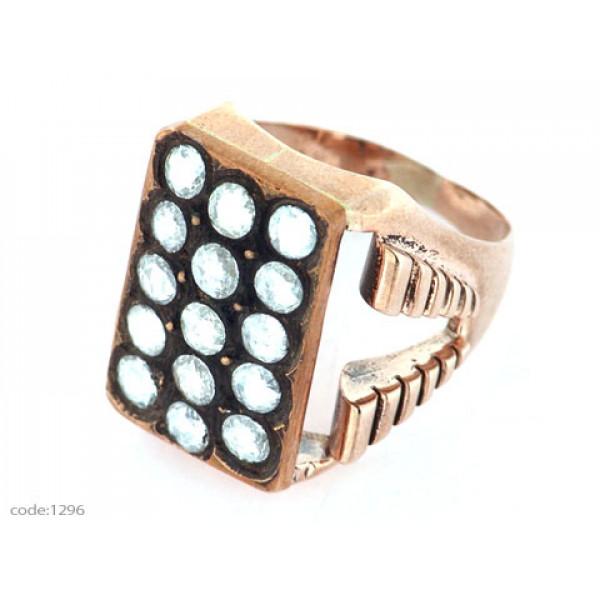 Κ9 Χρυσό Δαχτυλίδι με Διαμάντια Κορωνέ
