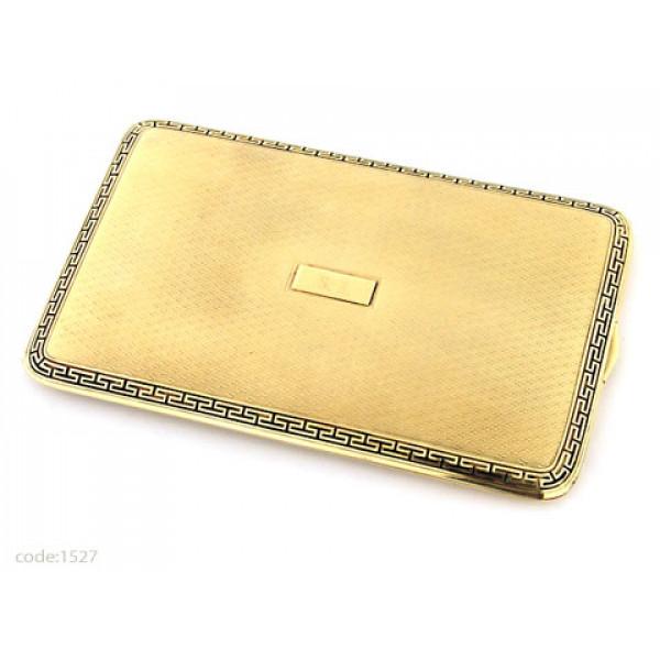 """Κ14 Χρυσή Art Deco Ταμπακιέρα """"Tiffany & Co"""""""