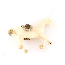 Καρφίτσα Άλογο από Ivory