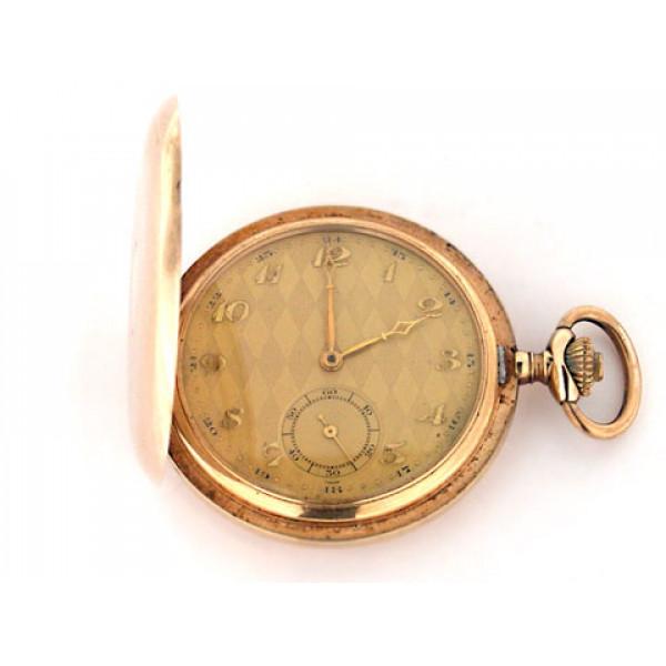 Χρυσό Ρολόι Τσέπης με Jewels στον Μηχανισμό του