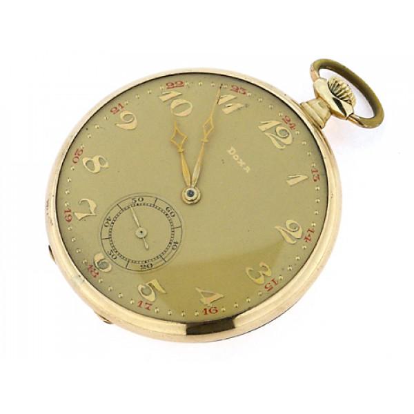 Χρυσό Ρολόι Τσέπης Doxa με 16 Ρουμπίνια στον Μηχανισμό του