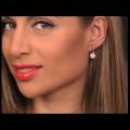 Minimal Σκουλαρίκια με Μαργαριτάρια και Διαμάντια σε Χρυσό Κ18