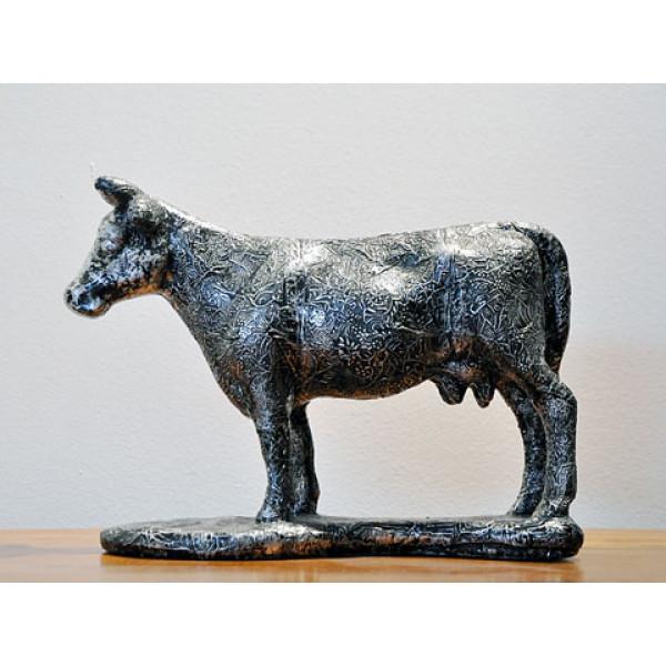 Αγαλματίδιο Αγελάδα από Γύψο