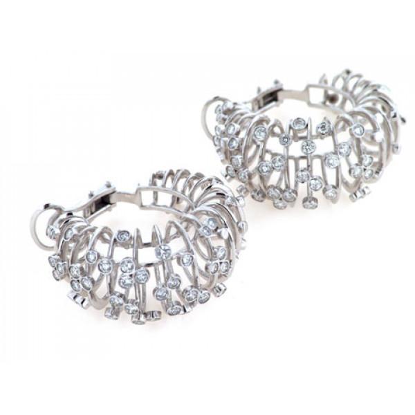 Σκουλαρίκια Διαμάντια Roberta Porrati δεμένα σε Λευκό Χρυσό Κ18