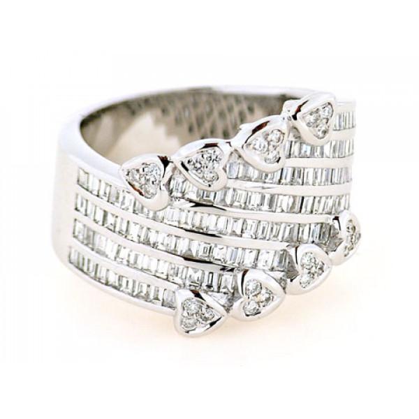 Δαχτυλίδι με Μπριγιάν δεμένο σε Λευκό Χρυσό