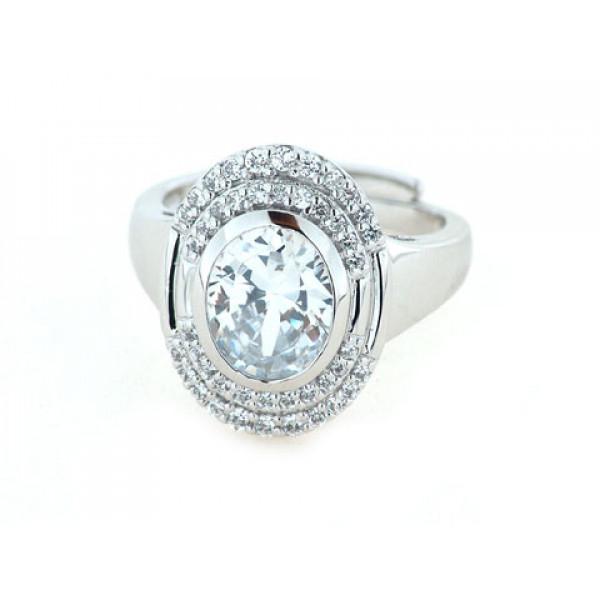 Δαχτυλίδι από Επιπλατινωμένο Ασήμι