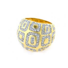 Μπομπέ Δαχτυλίδι από Επιχρυσωμένο Ασήμι