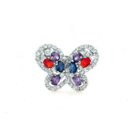 Ασημένιο Δαχτυλίδι Πεταλούδα
