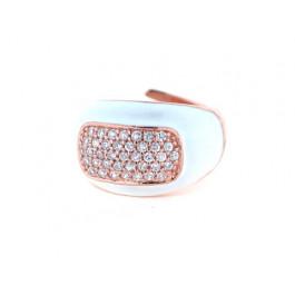 Ροζ Επιχρυσωμένο Δαχτυλίδι