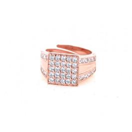 Δαχτυλίδι Σεβαλιέ Ροζ Επιχρυσωμένο