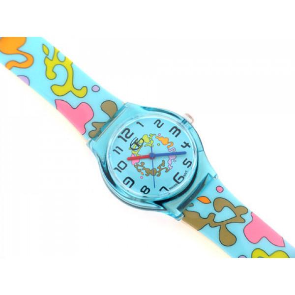 Γαλάζιο Ρολόι με Πολύχρωμα Σχέδια GT Kid's Collection