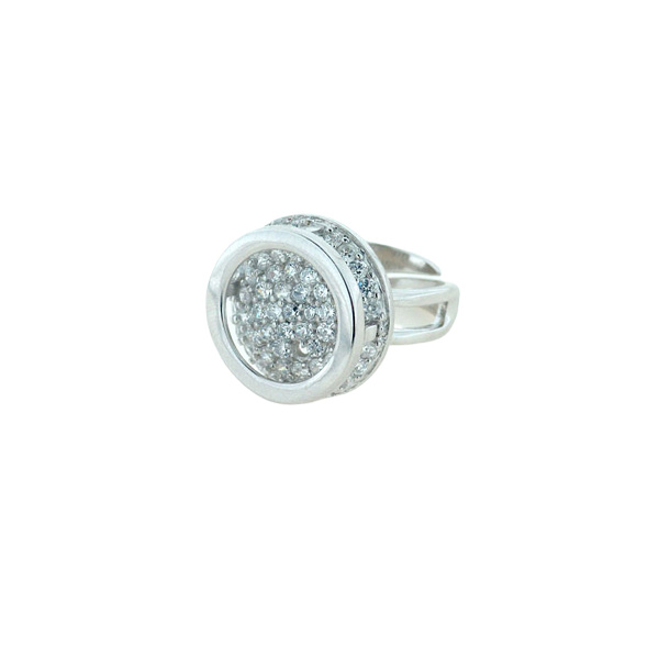 Επιπλατινωμένο Δαχτυλίδι με Λευκά Ζαφείρια