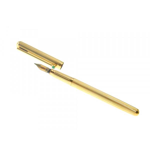 Πένα με Μαλαχίτη με Χρυσό Κ18 του Οίκου Waterman