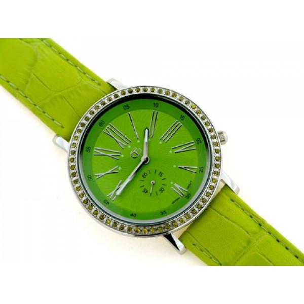 Ρολόι με Σμαράγδια και Πράσινο Κροκό Ρολόι