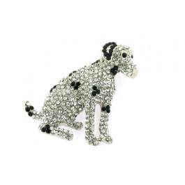 Καρφίτσα Σκύλος με Swarovski
