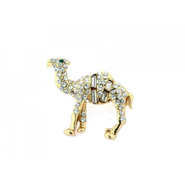 Καρφίτσα Eisenberg Ice Καμήλα με Swarovski