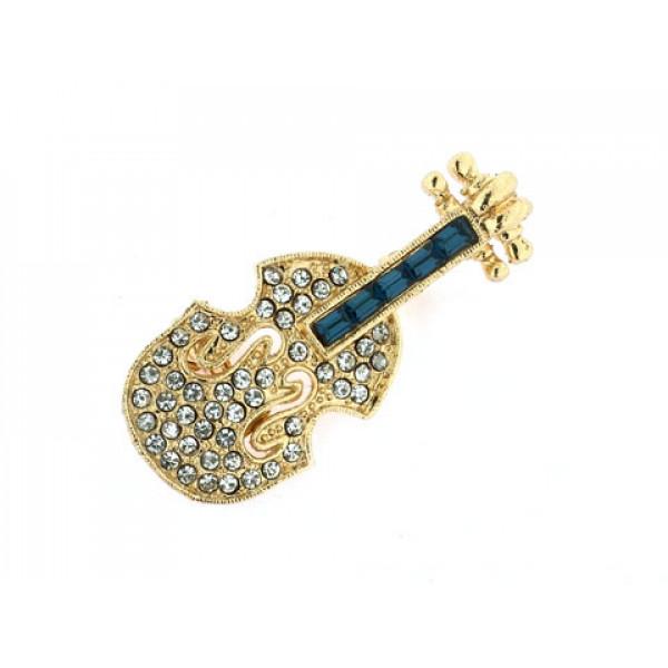 Eisenberg Ice Καρφίτσα Βιολί με Κρύσταλλα Swarovski