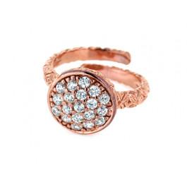 Δαχτυλίδι από Ροζ Επιχρυσωμένο Ασήμι