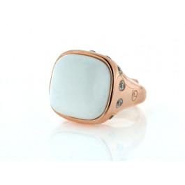 Δαχτυλίδι με Λευκό Αχάτη