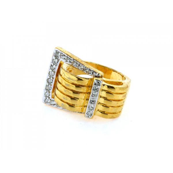 Επίχρυσο Δαχτυλίδι με Λευκά Ζαφείρια από τη συλλογή Sabrina Carrera