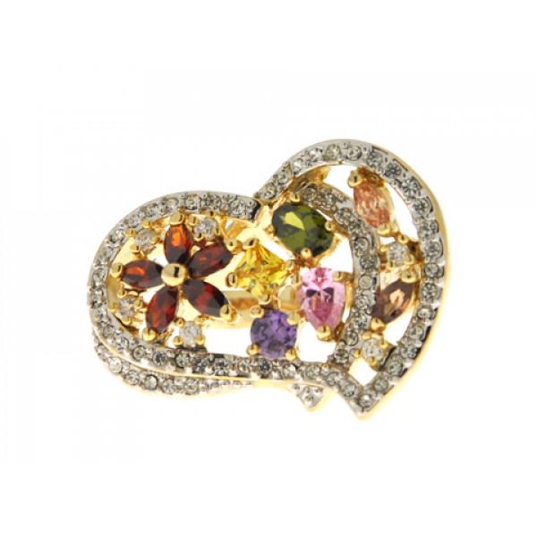 Sabrina Carrera Δαχτυλίδι με Πολύχρωμα Swarovski