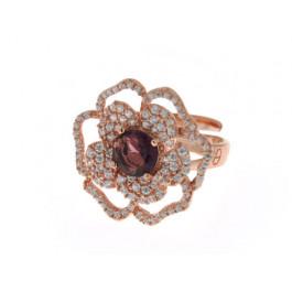 Δαχτυλίδι Λουλούδι με Αμέθυστο