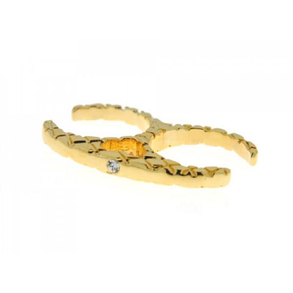 Διπλό Δαχτυλίδι Sabrina Carrera με Επιμετάλλωση Χρυσού και Swarovski