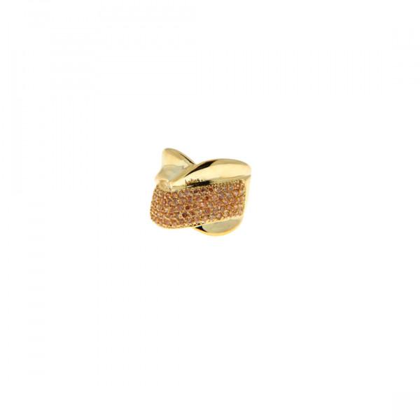 Δαχτυλίδι με Τοπάζι και Επιμετάλλωση Χρυσού