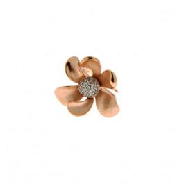 Δαχτυλίδι Λουλούδι Ροζ Επιχρυσωμένο