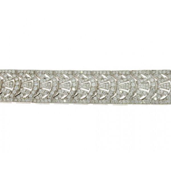 Βραχιόλι με 512 Μπριγιάν σε Λευκό Χρυσό