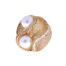 Επίχρυσο Δαχτυλίδι με Πέρλες