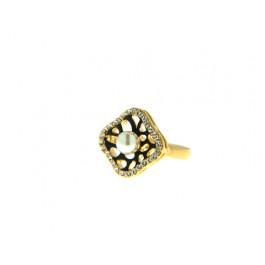 Δαχτυλίδι με Λευκή Πέρλα