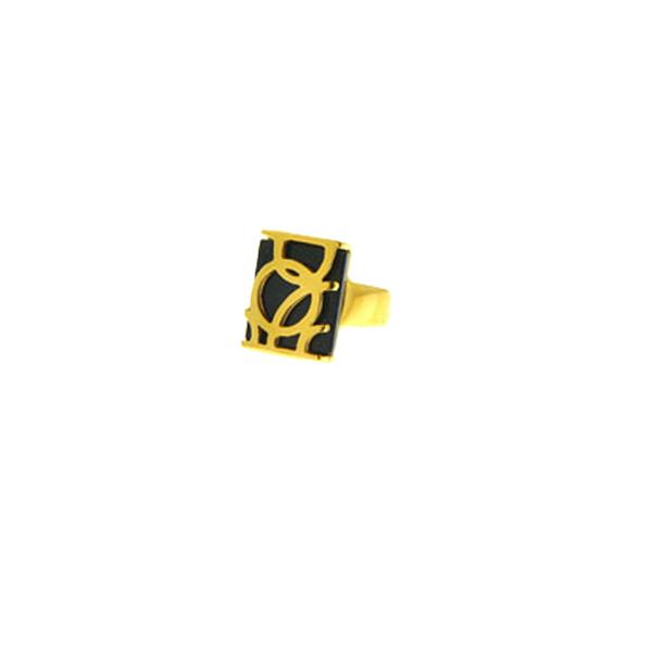 Δαχτυλίδι από Επιχρυσωμένο Ατσάλι με Χρυσόλιθο