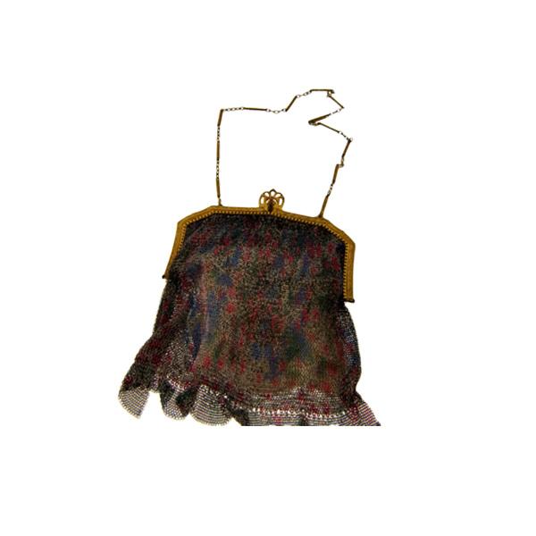 Βικτωριανό Τσαντάκι με Επιμετάλλωση Χρυσού και Πολύχρωμο Σχέδιο