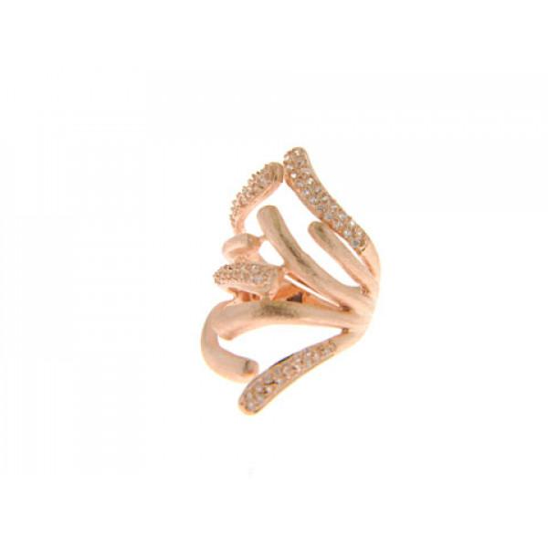 Statement Δαχτυλίδι με Επιμετάλλωση Ροζ Χρυσού από τη New York Collection
