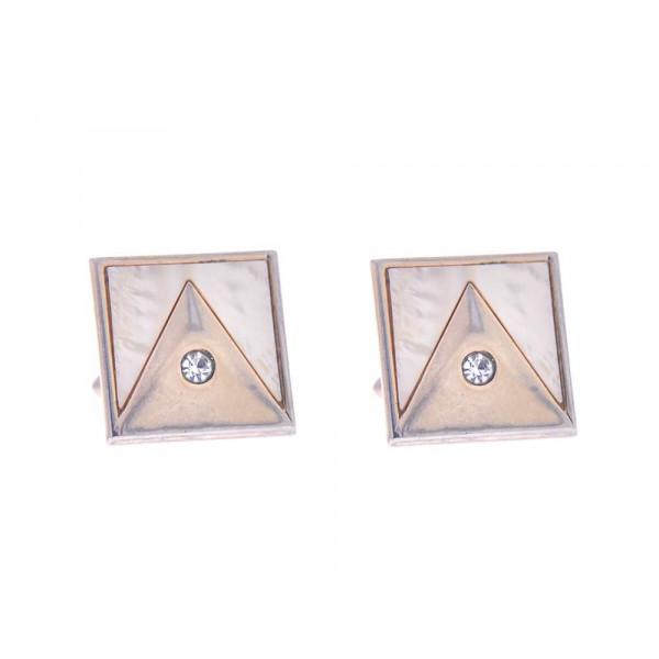Τετράγωνα Μανικετόκουμπα Gold Filled με Ημιπολύτιμους Λίθους