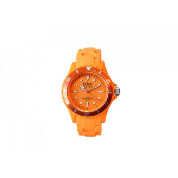 Ρολόι Colori Fashion Quartz με Λουράκι από Πορτοκαλί Σιλικόνη