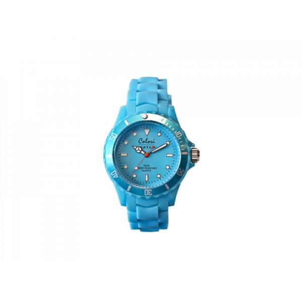 Ρολόι Colori Fashion Quartz με Λουράκι Γαλάζιας Σιλικόνης