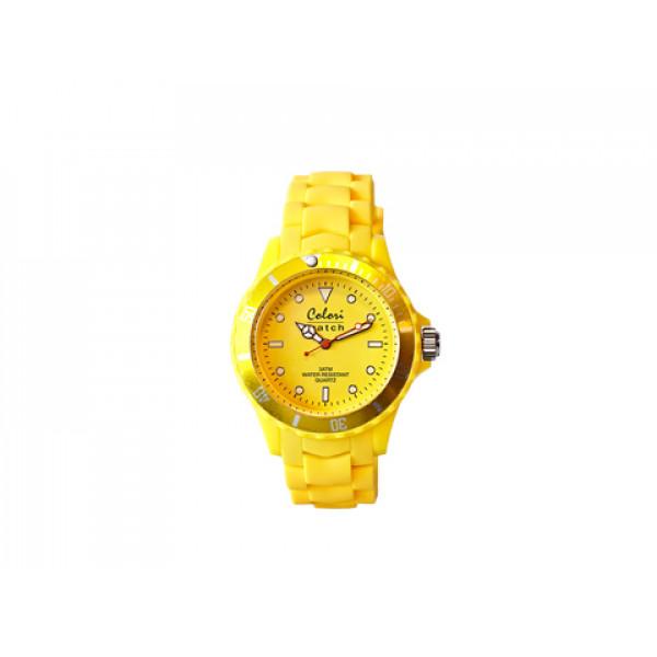 Ρολόι Colori Fashion Quartz με Κίτρινο Λουράκι Σιλικόνης