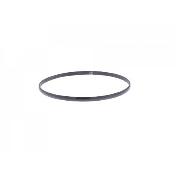 Stainless Steel Βραχιόλι Βέργα με Μαύρο Επιπλατίνωμα