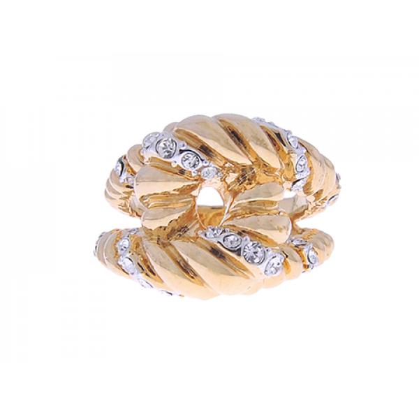 Επίχρυσο Δαχτυλίδι με Λευκά Ζαφείρια