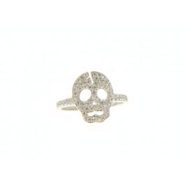 Επιπλατινωμένο Δαχτυλίδι Νεκροκεφαλή