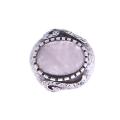 Μπομπέ Δαχτυλίδι με Ροζ Χαλαζία και Λευκά Ζαφείρια