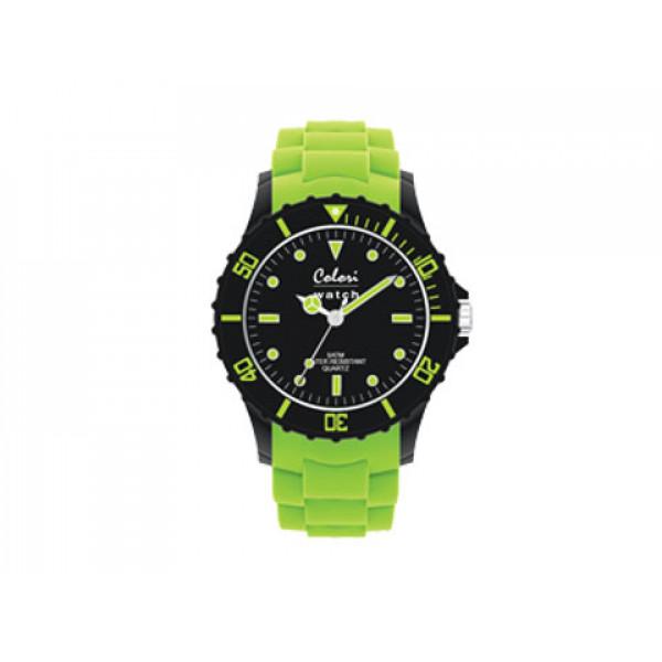Ρολόι Colori Super Sports με Λουράκι Πράσινης Σιλικόνης