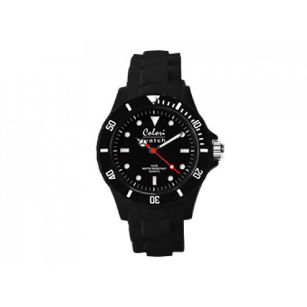 Ρολόι Colori Classic Quartz με Λουράκι Μαύρης Σιλικόνης