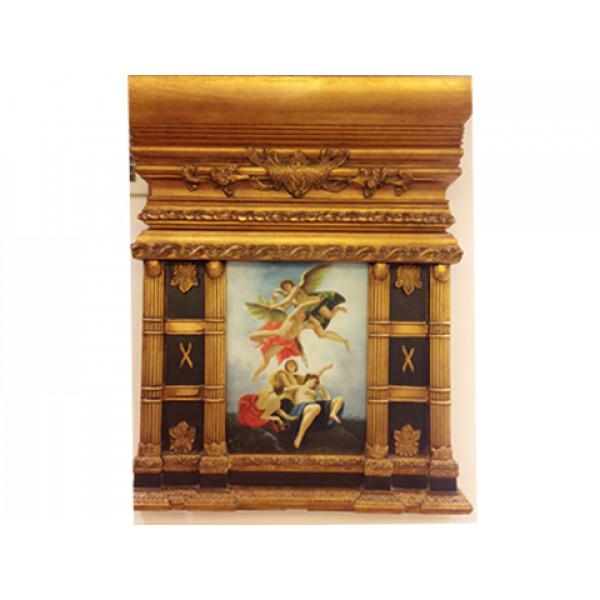 """Πίνακας με θέμα """"Άγγελοι"""", ελαιογραφία σε Καμβά"""