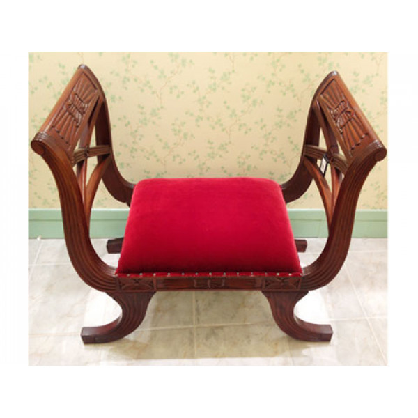Ανάκλιντρο Κάθισμα με Μπορντώ Ταπετσαρία