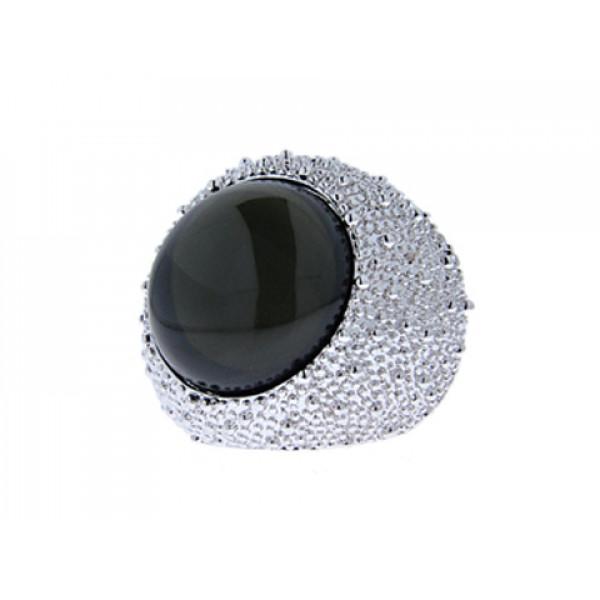 Μπομπέ Δαχτυλίδι Επιπλατινωμένο με Moonstone